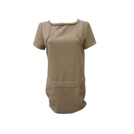 Mini Dress MAJE Beige, camel