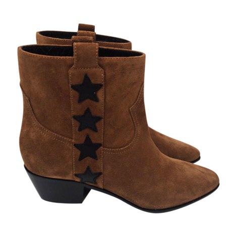 Flat Boots SAINT LAURENT Beige, camel