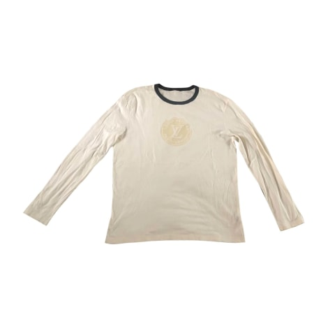 T-shirt LOUIS VUITTON White, off-white, ecru