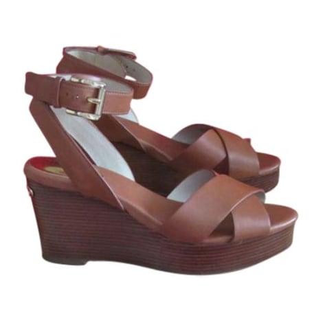 Sandales à talons MICHAEL KORS Marron