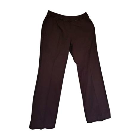 Pantalon droit ISABEL MARANT Rouge, bordeaux