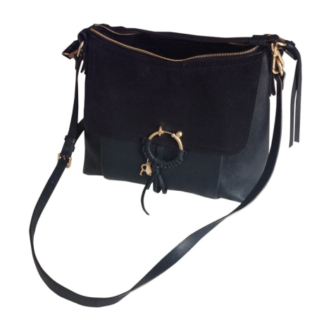 Borsa a tracolla in pelle SEE BY CHLOE Blu, blu navy, turchese