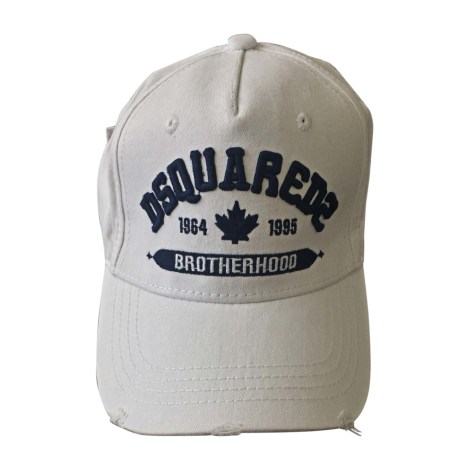 Cap DSQUARED White, off-white, ecru