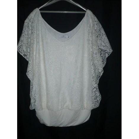 Top, T-shirt JACQUELINE RIU White, off-white, ecru