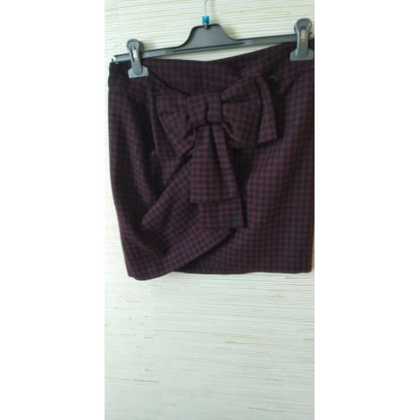 Mini Skirt COP-COPINE Red, burgundy