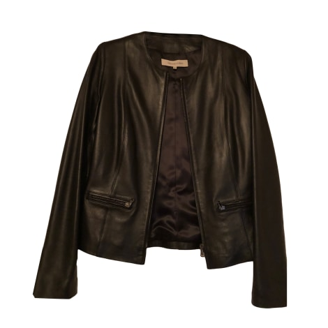 Leather Zipped Jacket GERARD DAREL Black