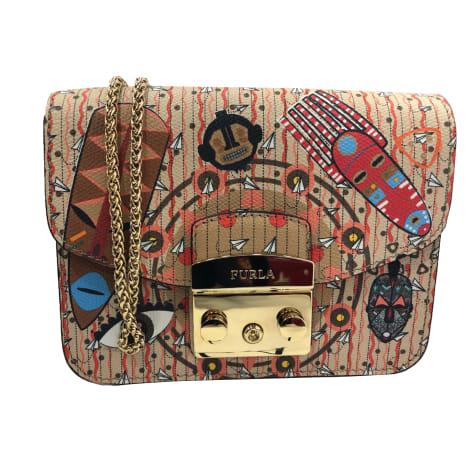 Leather Shoulder Bag FURLA Multicolor