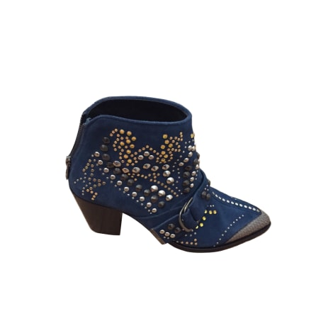 Cowboy Ankle Boots ZADIG & VOLTAIRE Blue, navy, turquoise
