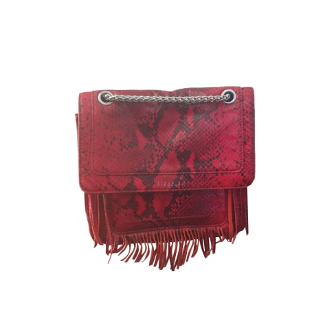 Leather Handbag CLAUDIE PIERLOT Red, burgundy