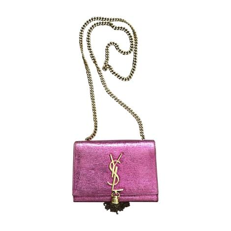 Leather Clutch SAINT LAURENT Pink, fuchsia, light pink