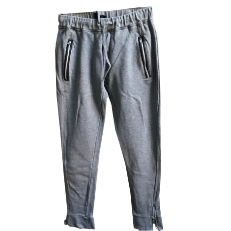 Pantalon droit THE KOOPLES Gris, anthracite