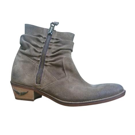 Bottines & low boots à talons ZADIG & VOLTAIRE Beige, camel