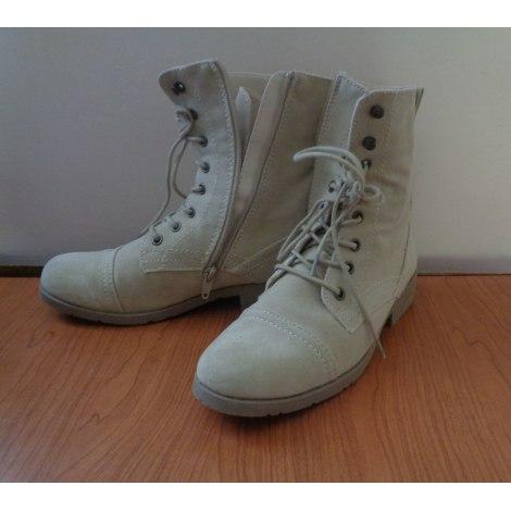 Bottines & low boots plates LA REDOUTE Beige, camel