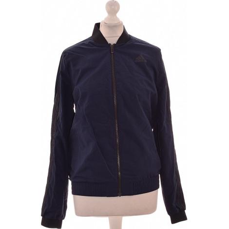 Vest, Cardigan ADIDAS Blue, navy, turquoise