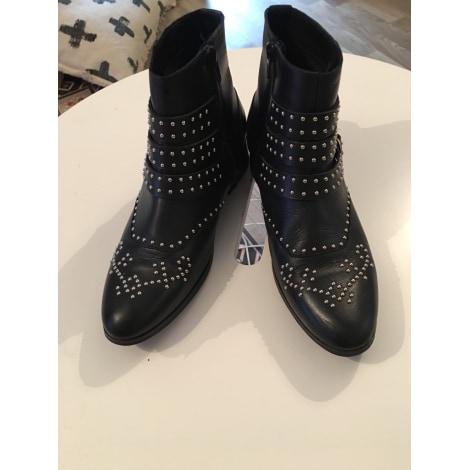 Bottines & low boots motards MORGAN Noir