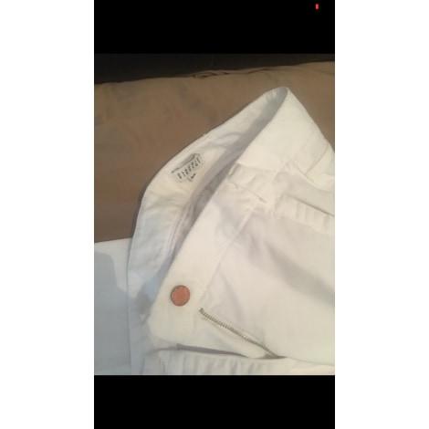 Pantalon large CLAUDIE PIERLOT Blanc, blanc cassé, écru