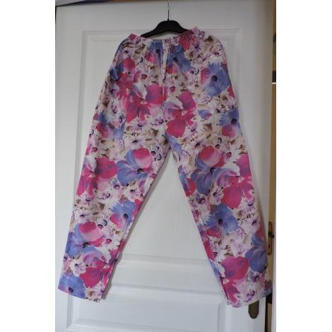 Pantalon droit CHRISTINE LAURE Multicouleur