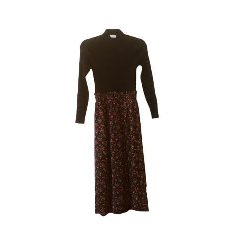 Maxi Dress CLAUDIE PIERLOT Haut noir et liberty