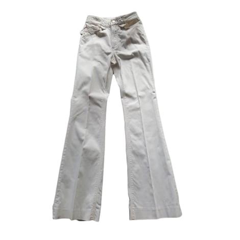 Pantalone svasato ZADIG & VOLTAIRE Bianco, bianco sporco, ecru