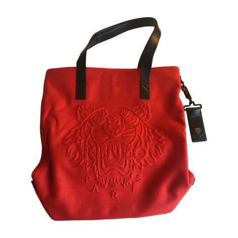 Non-Leather Oversize Bag KENZO Red, burgundy