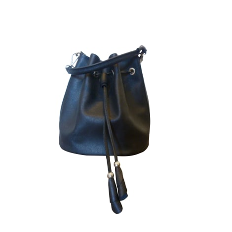 Leather Shoulder Bag LANCASTER Black