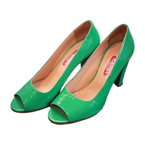 Escarpins à bouts ouverts CAREL Vert