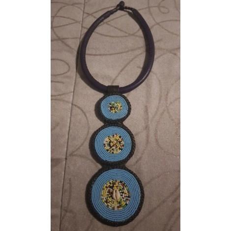 Collier VINTAGE Bleu, bleu marine, bleu turquoise