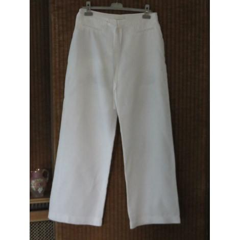Pantalon droit ZAPA Blanc, blanc cassé, écru