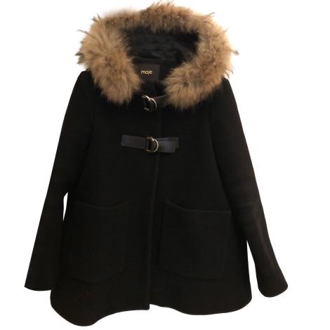 Manteau en fourrure MAJE Noir