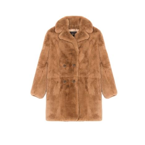 Manteau en fourrure MAJE Beige, camel