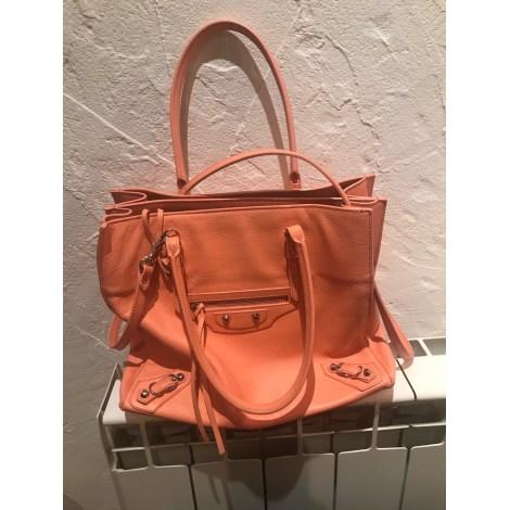 Leather Handbag BALENCIAGA Papier Orange