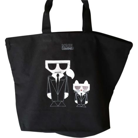 Non-Leather Handbag KARL LAGERFELD Black