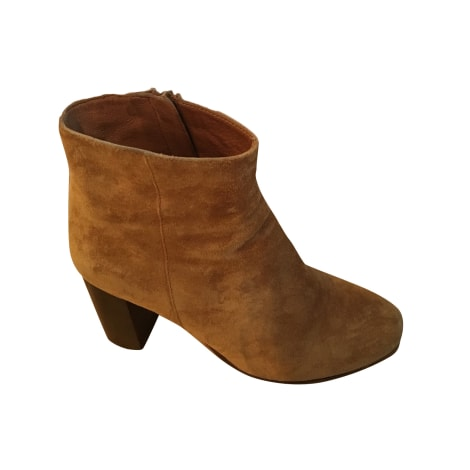 Bottines & low boots à talons MAJE Beige, camel