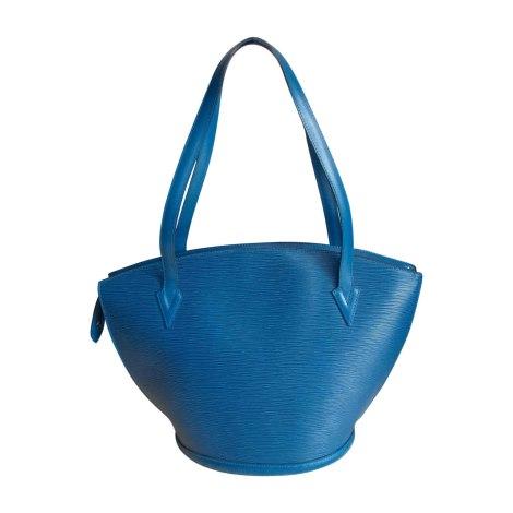 Ledertasche groß LOUIS VUITTON Blau, marineblau, türkisblau