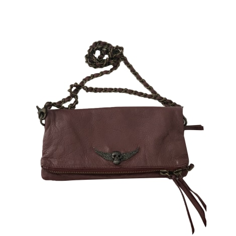 Leather Clutch ZADIG & VOLTAIRE Red, burgundy