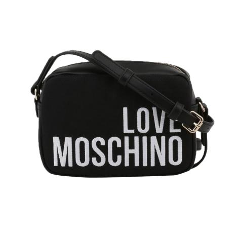 Leather Shoulder Bag LOVE MOSCHINO Black