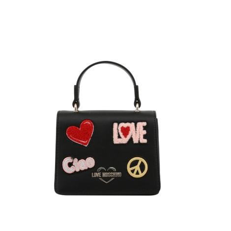 Leather Handbag LOVE MOSCHINO Black