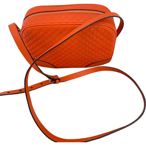Schultertasche Leder GUCCI Orange