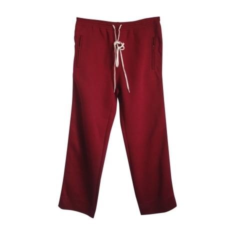 Pantalon large CHLOÉ Rouge, bordeaux