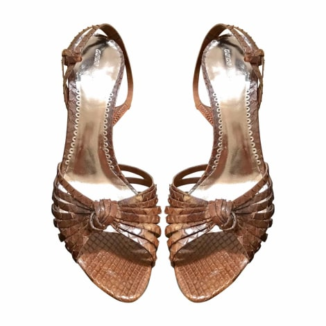Sandales à talons GIORGIO ARMANI Marron