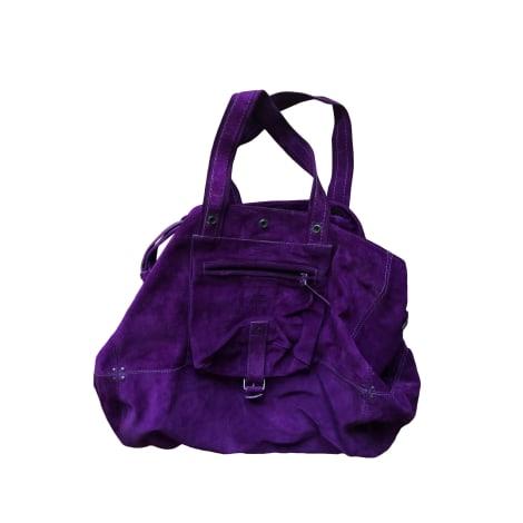 Leather Handbag JEROME DREYFUSS Purple, mauve, lavender