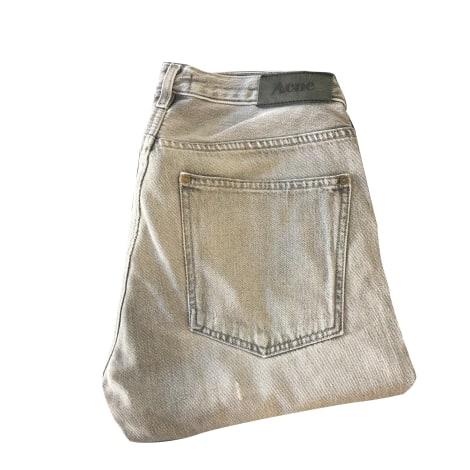 Jeans droit ACNE Gris, anthracite