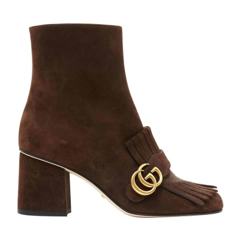 High Heel Ankle Boots GUCCI Brown