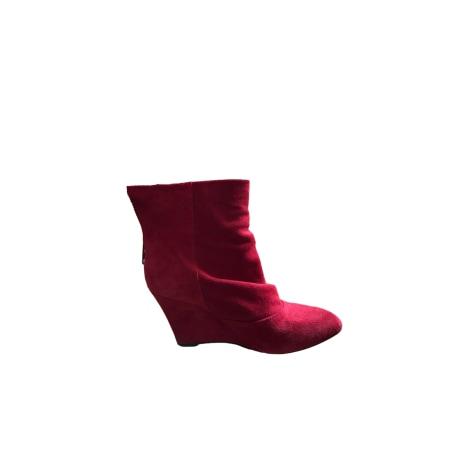 Bottines & low boots à talons BEL AIR Rouge, bordeaux
