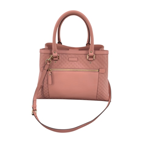 Lederhandtasche GUCCI Pink,  altrosa