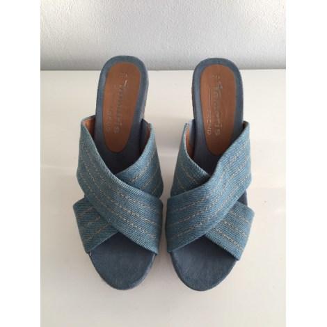 Sabots TAMARIS Bleu, bleu marine, bleu turquoise