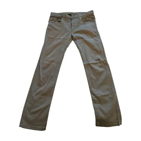 Pantalon droit DIOR HOMME Gris, anthracite