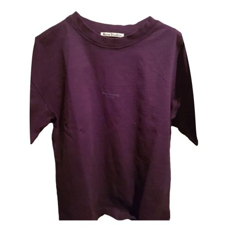 Tee-shirt ACNE Violet, mauve, lavande