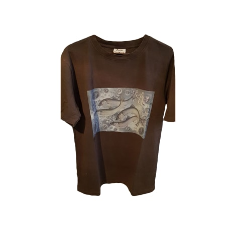 Tee-shirt ACNE Gris, anthracite
