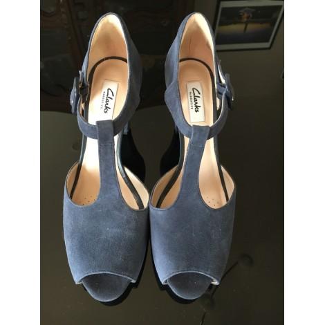 Escarpins à bouts ouverts CLARKS Bleu, bleu marine, bleu turquoise